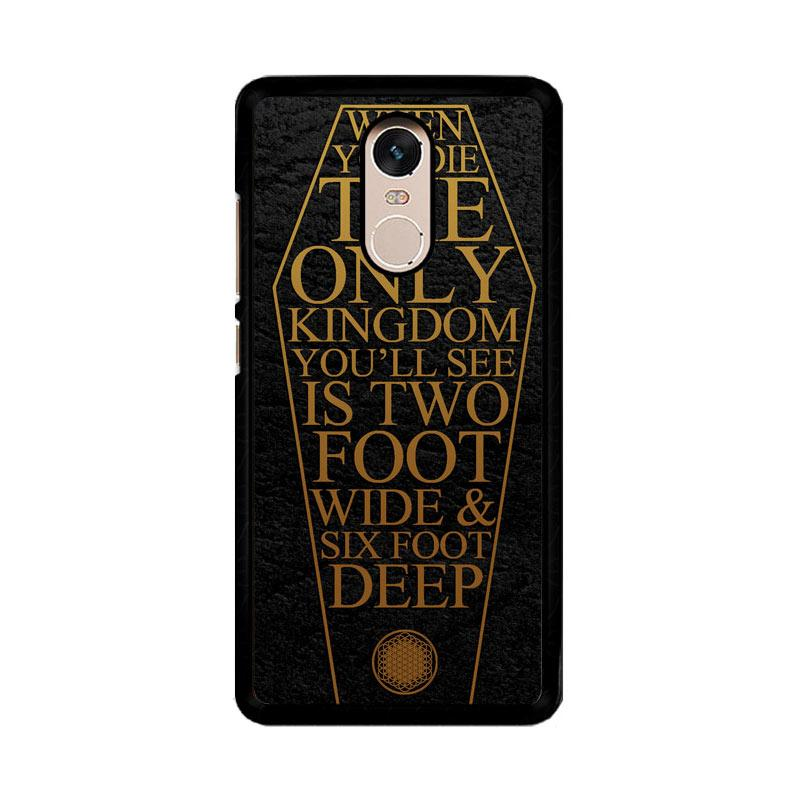Flazzstore Bring Me The Horizon Coffin The House Of Wolves Quote F0353 Custom Casing for Xiaomi Redmi Note 4 or Note 4X Snapdragon Mediatek