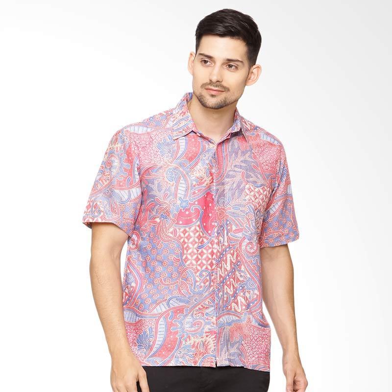 Jening Batik Short Sleeve - Pink Blue [HR-061]