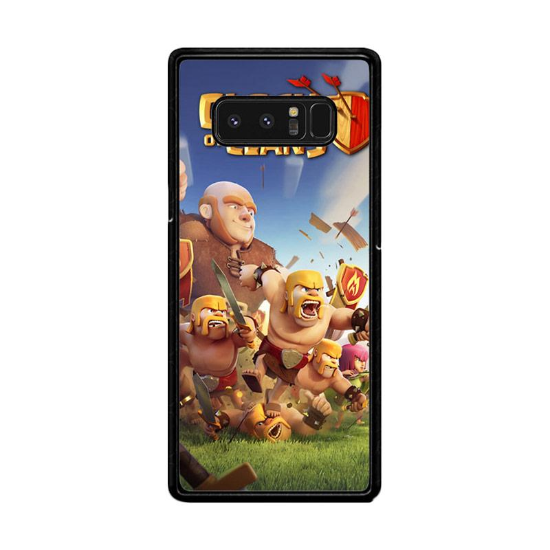 Flazzstore Clash Of Clans Mobile Games Z0430 Custom Casing for Samsung Galaxy Note8