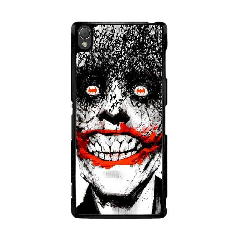 Flazzstore Creepy Smile Face Joker Z0981 Custom Casing for Sony Xperia Z3