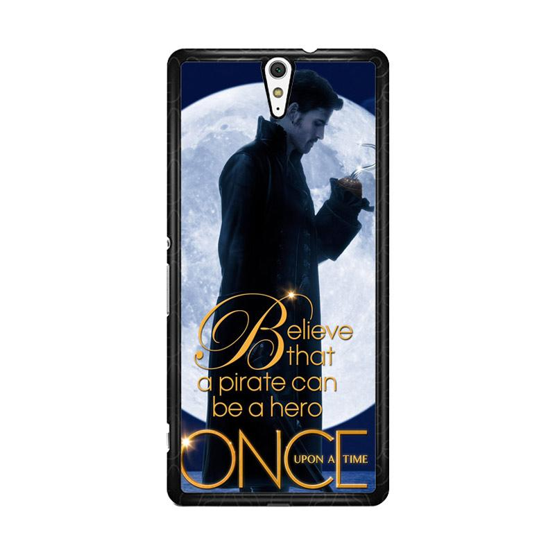 Flazzstore Once Upon A Time Captain Hook Believe F0542 Custom Casing for Sony Xperia C5 Ultra