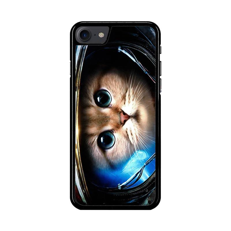 Flazzstore Space Cat Z1621 Custom Casing for iPhone 7 or 8
