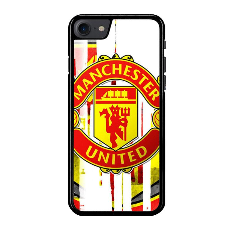 Flazzstore Manchester United  Art Logo Z4013 Custom Casing for iPhone 7 or 8