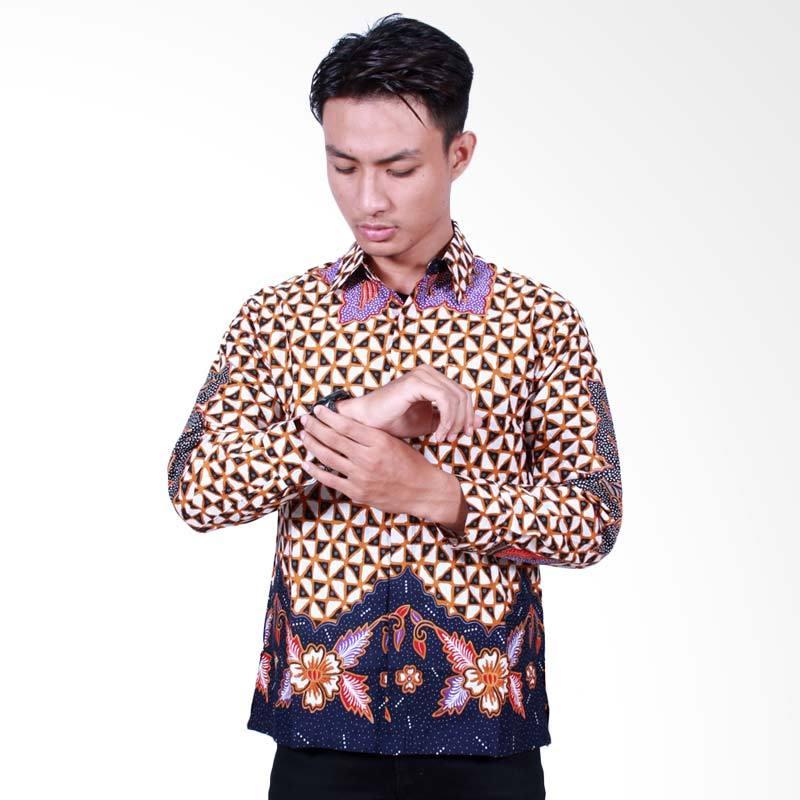 Batik Putri Ayu Solo Kemeja Batik Pria Lengan Panjang - Ungu [KPJ500]