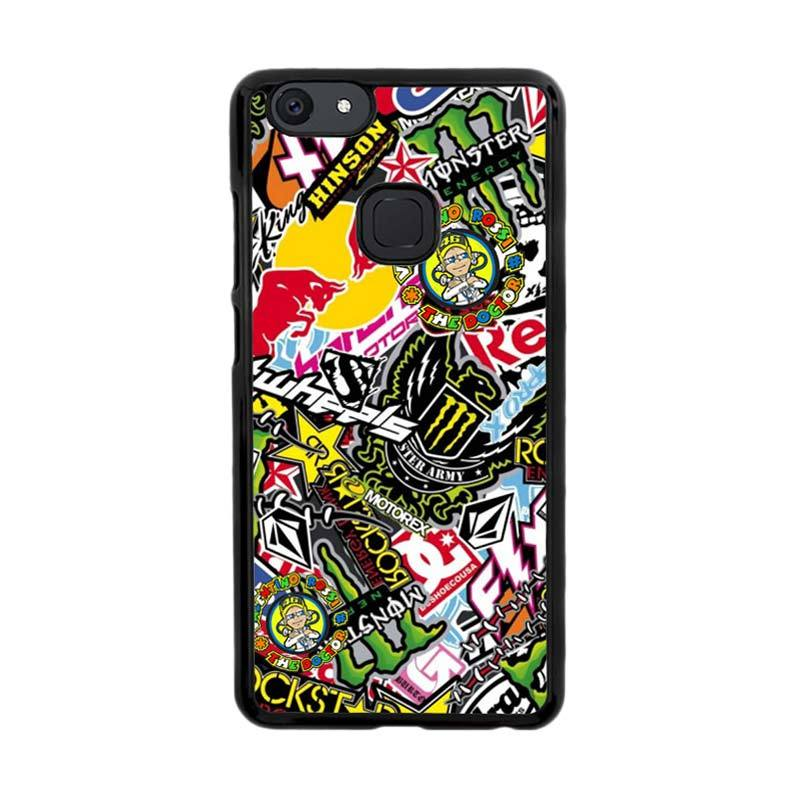 Flazzstore Sticker Bomb Z4015 Custom Casing for Vivo V7 Plus