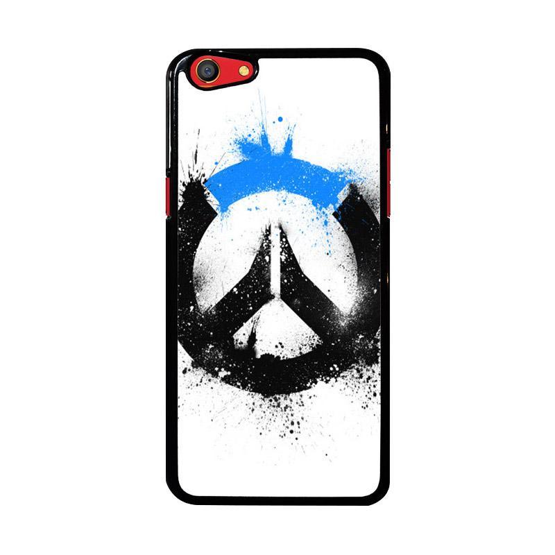 Flazzstore Overwatch Logo Black Blue Z4577 Custom Casing for Oppo F3