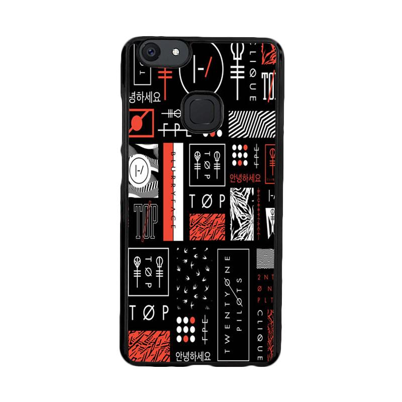 Flazzstore Twenty One Pilots Stripe Logo Z4200 Custom Casing for Vivo V7 Plus