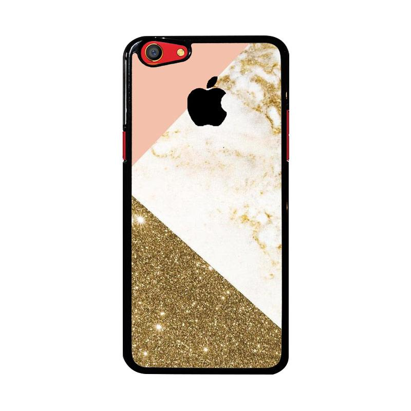 Flazzstore Pink And Gold Marble Apple Logo Z4824 Custom Casing for Oppo F3
