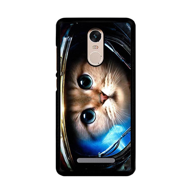 Flazzstore Space Cat Z1621 Custom Casing for Xiaomi Redmi Note 3 or Note 3 Pro