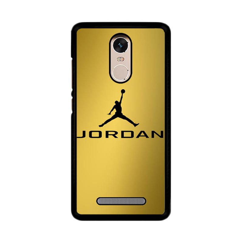Flazzstore Michael Jordan Logo Gold Z4468 Custom Casing for Xiaomi Redmi Note 3 or Note 3 Pro