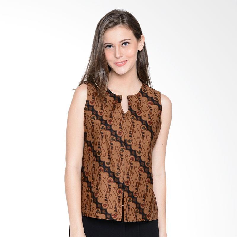 A&D Fashion Ms 1005 Ladies Batik Cardigan - Dark Brown