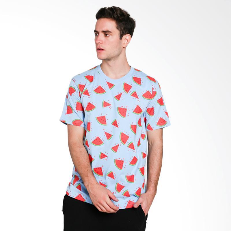 Hypestore Watermelon T-Shirt Pria - Blue [3016-8741]