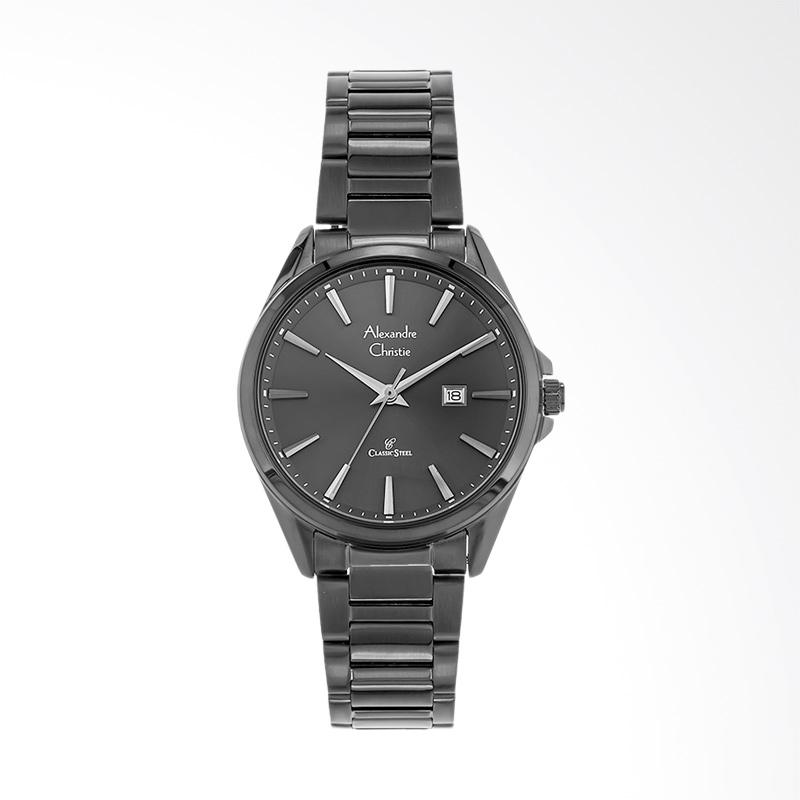 Alexandre Christie Classic AC 8552 LD BIPBA Stainless Steel Strap Jam Tangan Wanita - Black