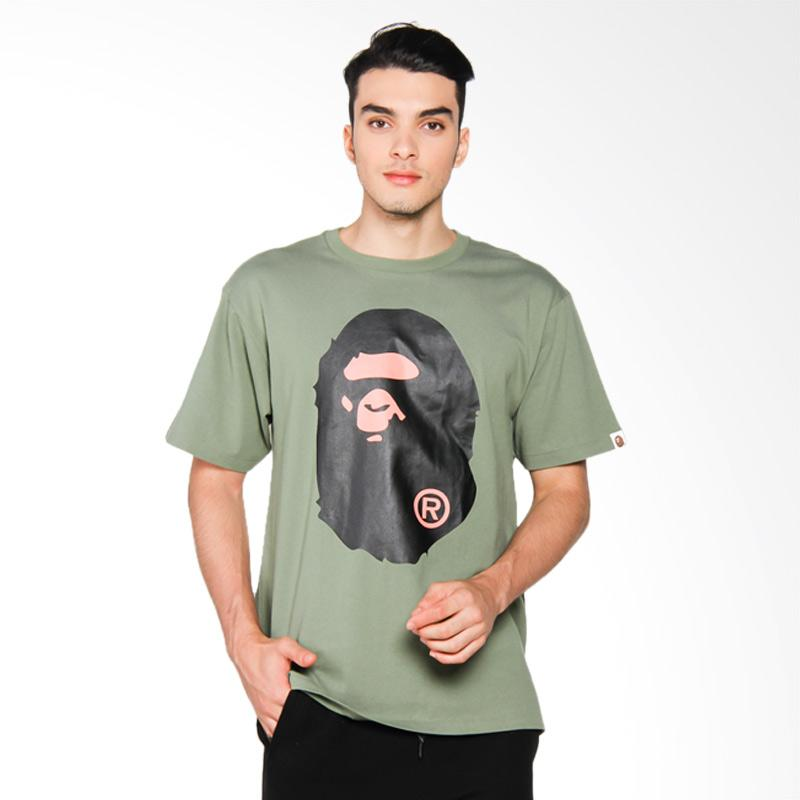 A Bathing Ape Big Ape Head Tee T-shirt Pria