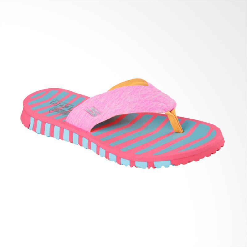 Skechers 14258PKBL Go Flex Sandal Wanita - Blue Pink