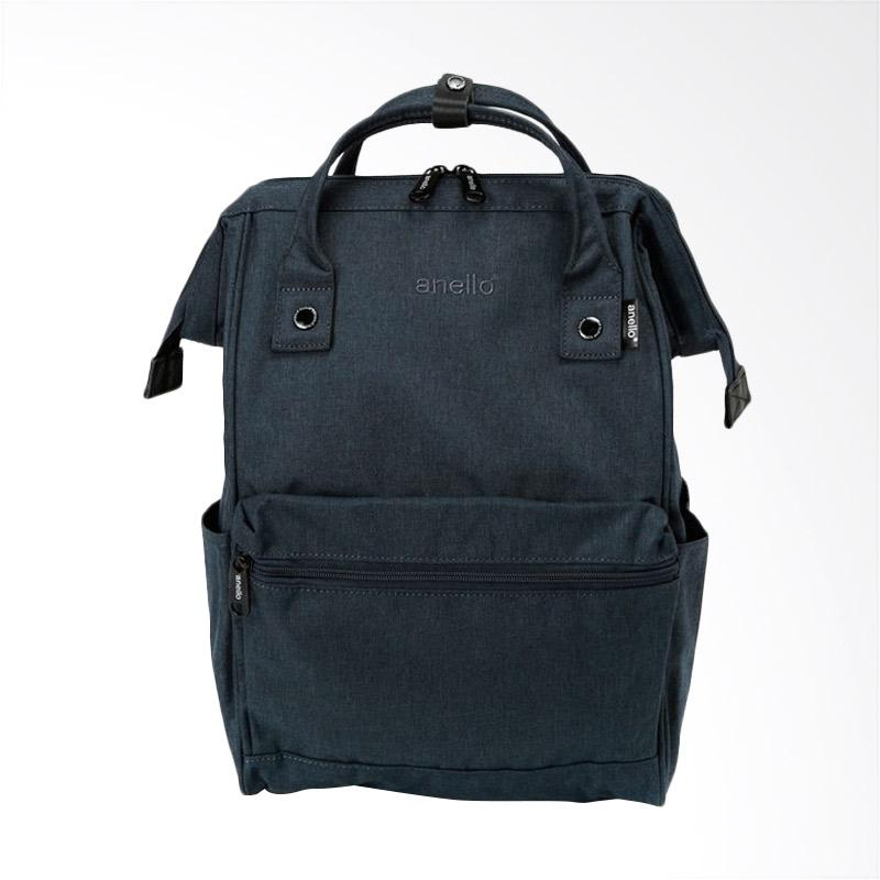 Anello HD Polyester Casual Multifungsi Tas Ransel - Navy