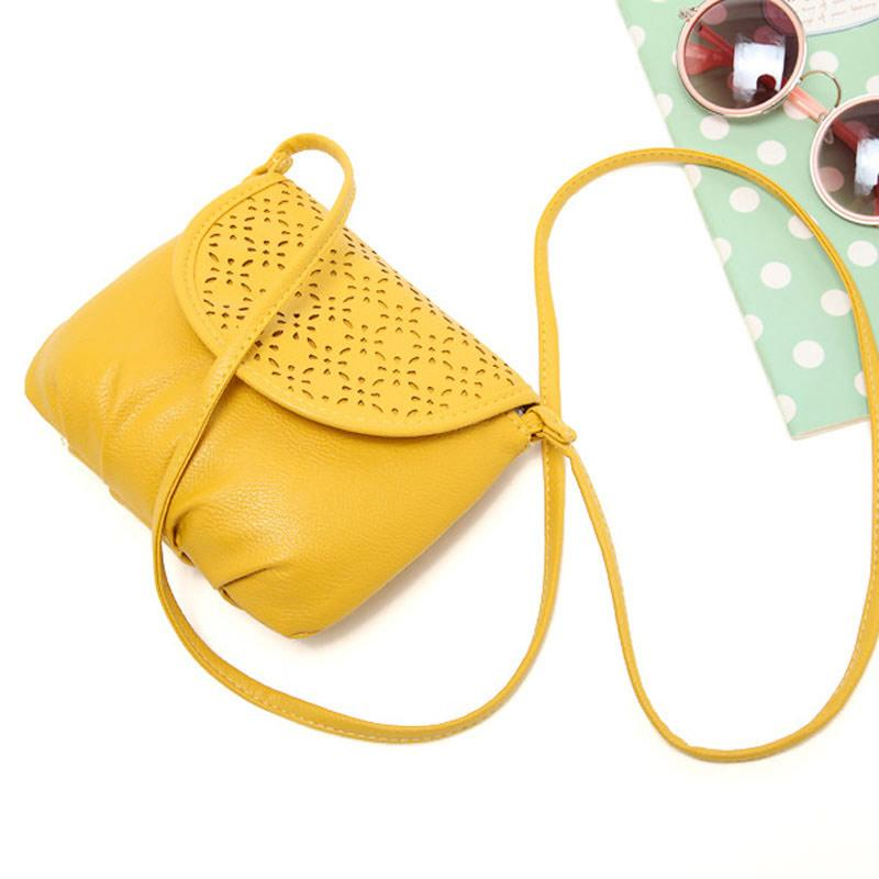 Lansdeal Leather Women Sling Bag Yellow