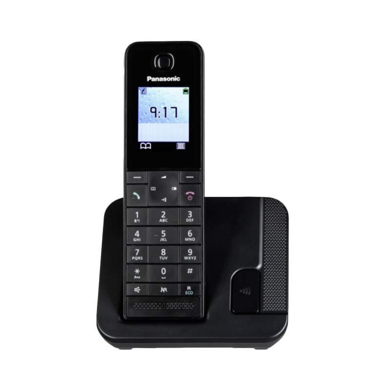 harga Telepon Wireless Panasonic KX-TGH210 - Telepon Wireless Rumah Kantor - Black Blibli.com