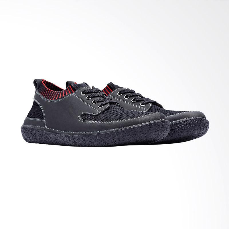 harga Life8 Casual Slip On Sneaker Shoes Pria - Black [09661] Blibli.com