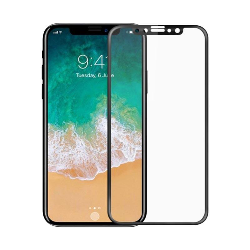 harga Remax GL-08 Tempered Glass Screen Protector for iPhone X - Black Blibli.com