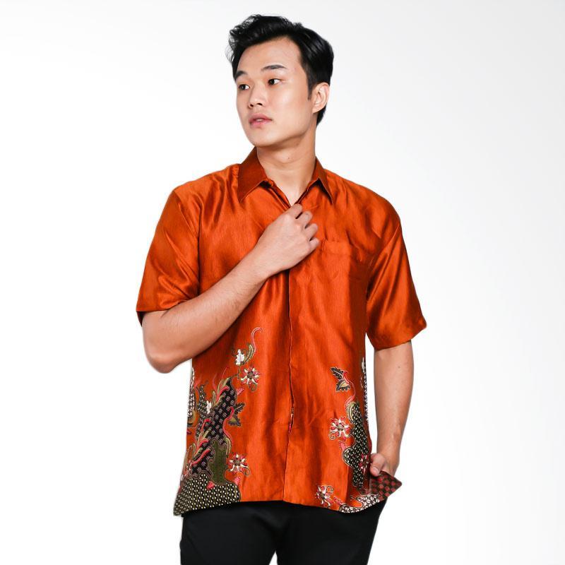 Blitique Abinawa Salur Kemeja Batik Pria - Coklat