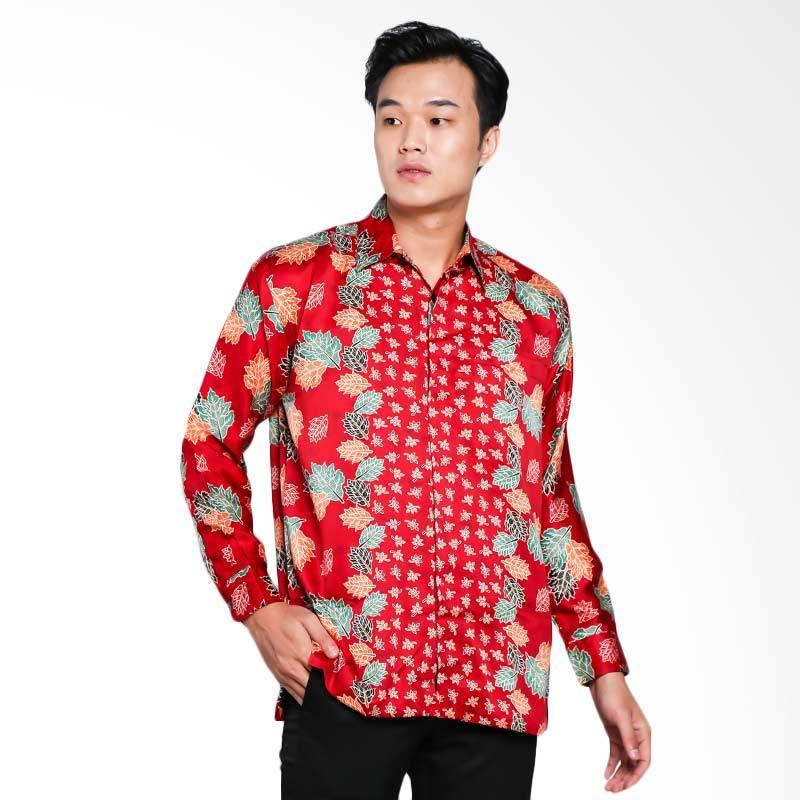 Blitique Agneya Demak Batik Kemeja Pria - Merah