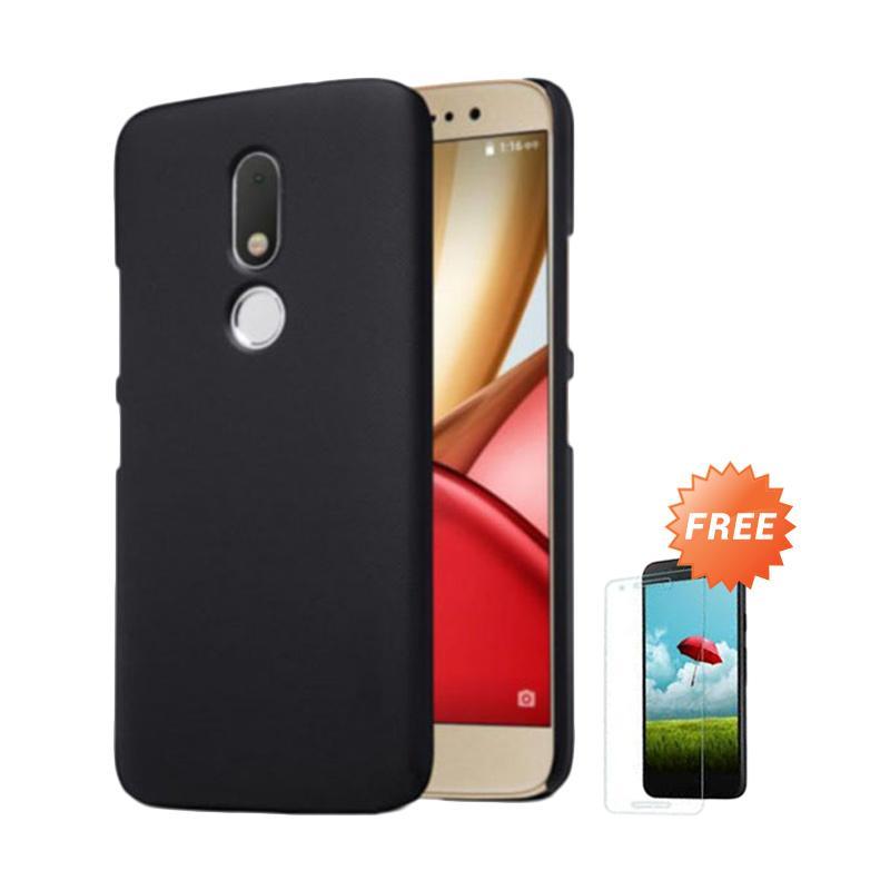 OEM Slim Hardcase Casing for Motorola Moto M XT1663 - Black Matte + Free  Tempered Glass