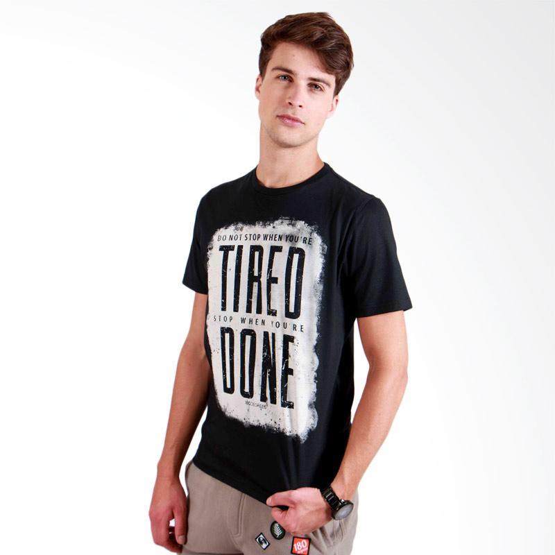 180 Degrees Dont Stop T-Shirt Pria - Hitam
