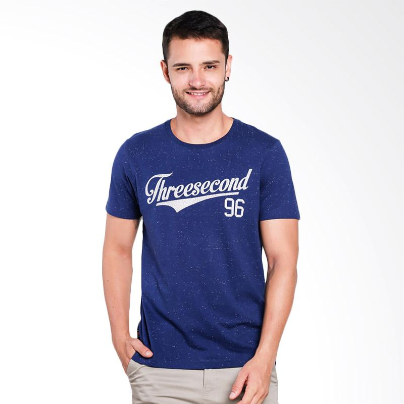 3SECOND 4309 T-Shirt Pria - Blue