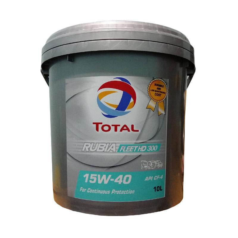 harga Total Rubia Fleet HD 300 15W-40 API CF-4 [Pail 10 Liter] - Oli Pelumas Mesin Mobil Diesel - Truk Diesel - Genset - Mesin Industri & Kendaraan Angkutan Blibli.com