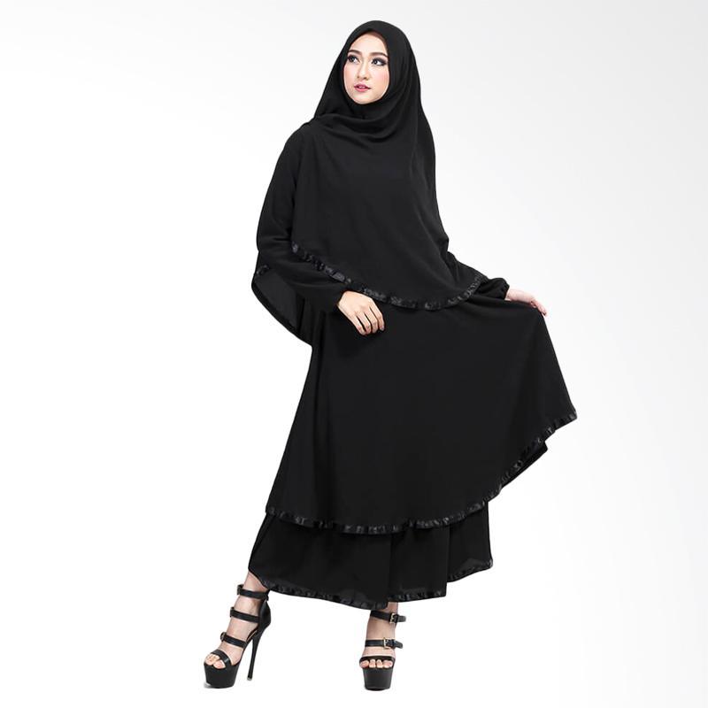 Jual Sogno Sgs 534 Muslimah Gamis Hitam Online Maret 2021 Blibli