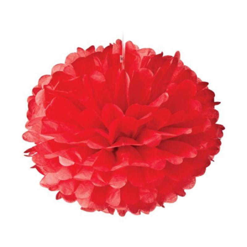 KUKUK PPK-LG02S Pom-Pom Kertas - Merah [6 Pcs/ Large]