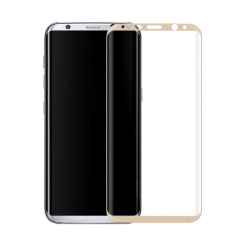 3T Tempered Glass Screen Protector for Samsung Galaxy S8 Plus - Gold [Full Cover]