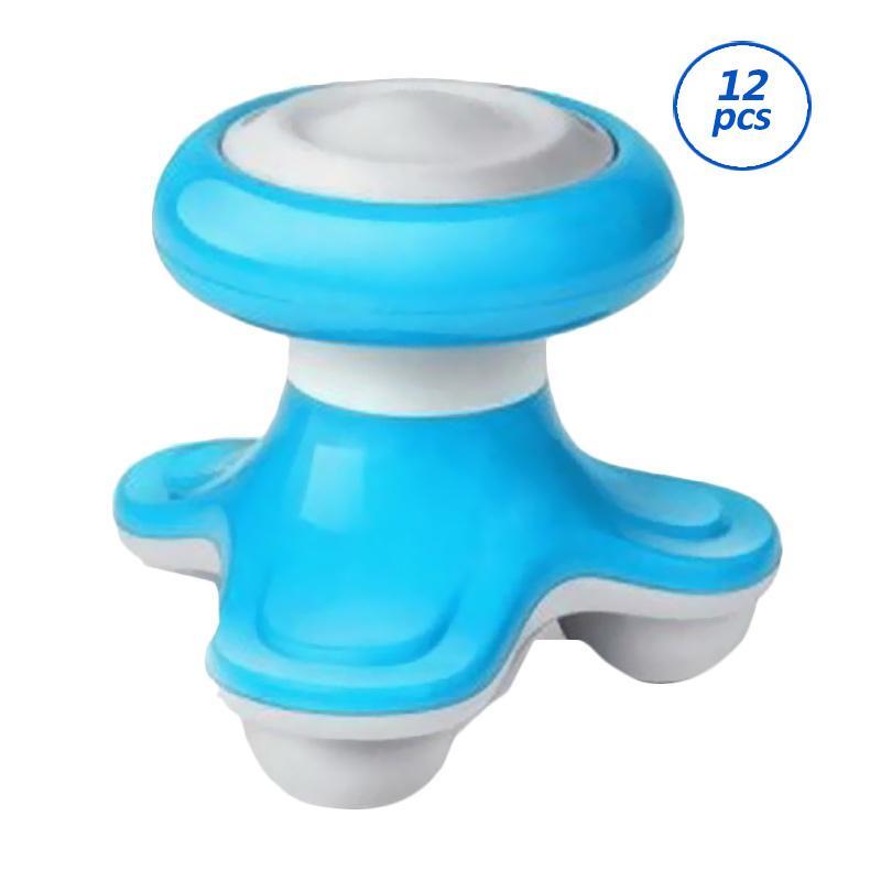 Yangunik Mini Electric Massager Paket Alat Pijat Elektrik - Biru [12 pcs]
