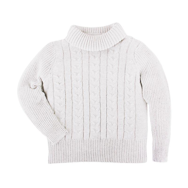 Hello Mici Turtleneck Knitwear Baby Sweater - White