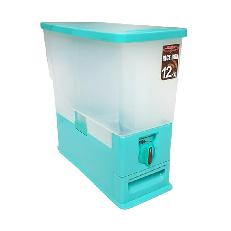 Maspion MRD-12 Rice Box Tempat Beras - Biru [12 Kg]