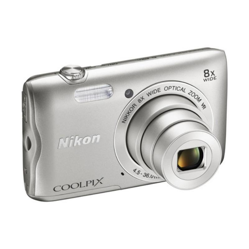 harga Nikon COOLPIX A300 Digital Camera - Silver Blibli.com