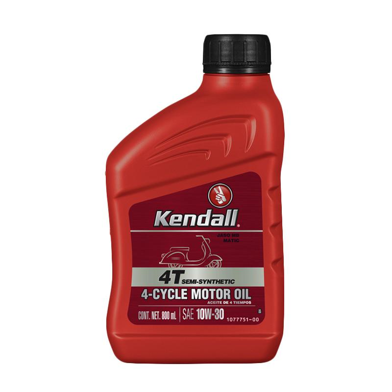 Kendall 4T Semi Synthetic 4 Cycle JASO MB Matic SAE 10W 30 Motor Oil 800 mL