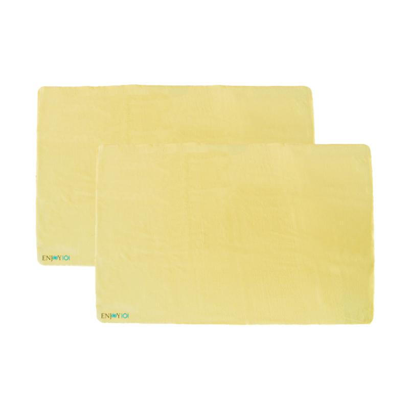 ENJOY101 Waterproof Incontinence Pads Underpads Bed Cover - Yellow [90 x 60 cm/2 pcs]