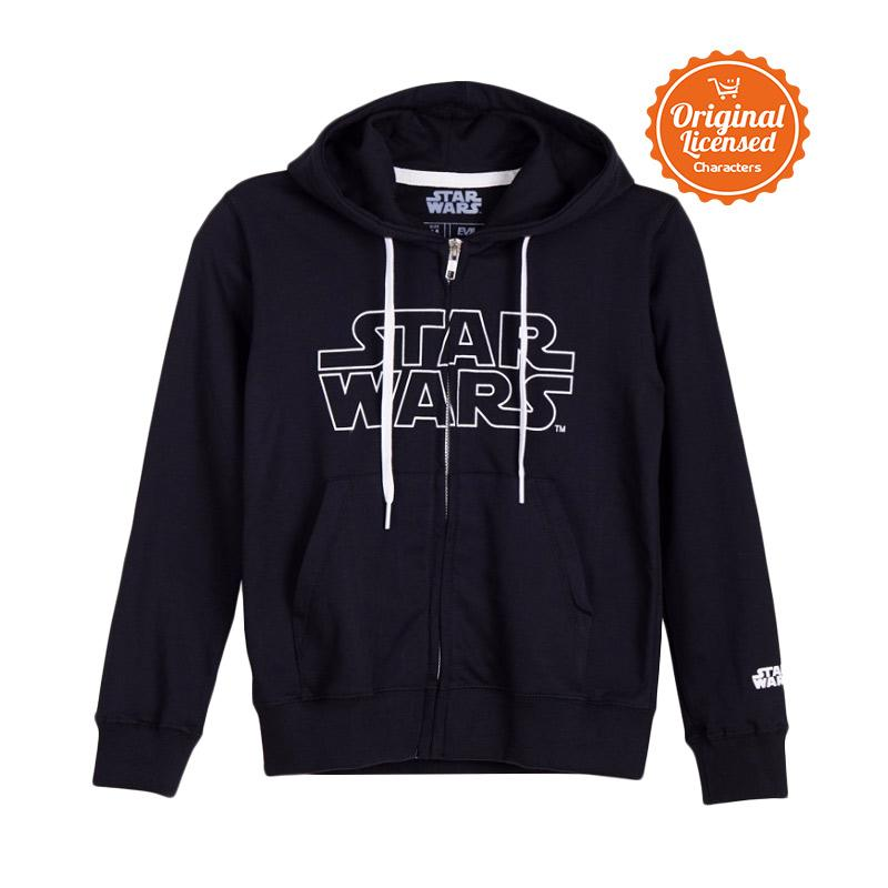 Star Wars Hoodies Logo Kids Jaket Anak Laki-laki - Black