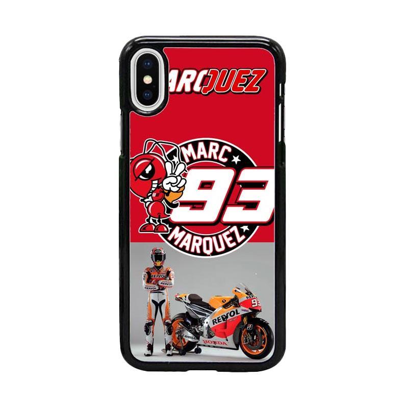 Acc Hp Marc Marquez 93 MotoGP W4963 Custom Casing for iPhone X