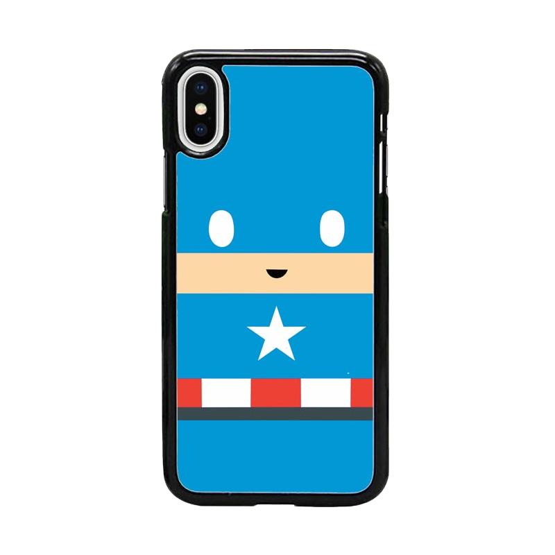 Acc Hp Captain America Face W5036 Custom Casing for iPhone X