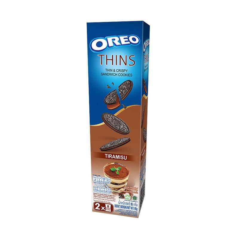harga Oreo Thins Tiramisu Biskuit [95 g] Blibli.com