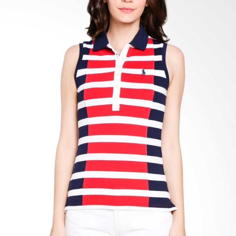 b0175aa29c170 Jual POLO RALPH LAUREN Sleeveless Ladies Polo Shirt - Navy Red ...