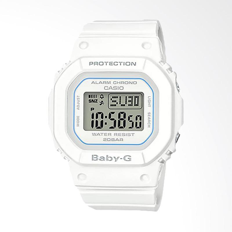 CASIO Baby G BGD 560 7DR Standard Digital White Resin Band Jam Tangan Wanita