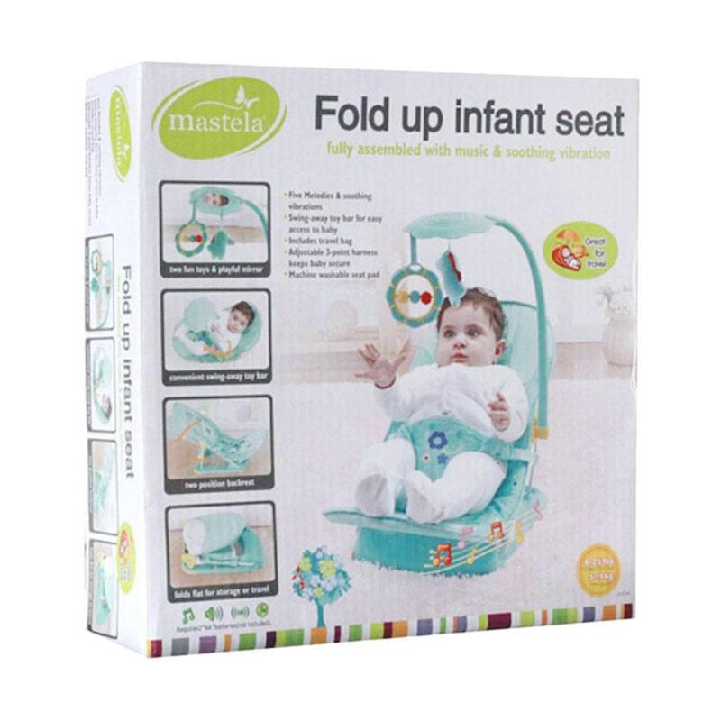 harga Mastela 07216 Fold Up Infant Seat Baby Bouncer - Green Blibli.com