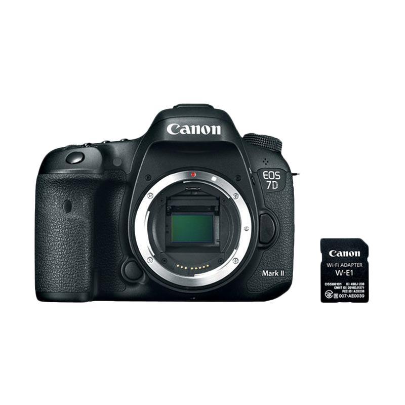harga Canon EOS 7D Mark II Kamera DSLR with Canon W-E1 WiFi Adapter - Hitam [Body Only] Blibli.com