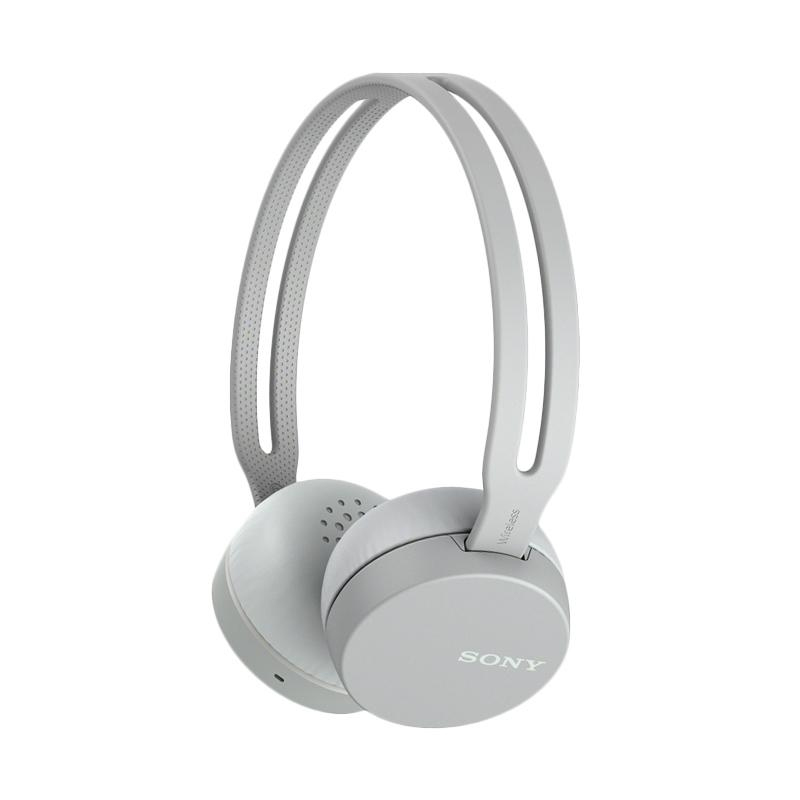 Sony Original WH-CH400 Gray Wireless On-Ear Bluetooth Headphones with mic - headset - warna Abu-abu , garansi resmi Sony Indonesia 1 tahun