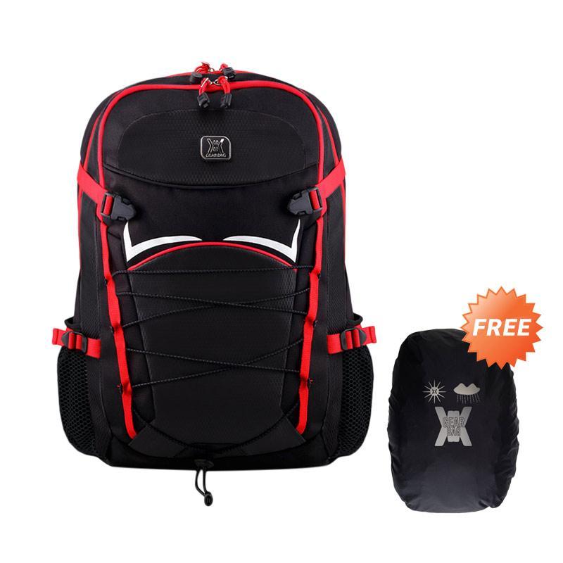 Gear Bag Andromeda Tas Laptop Backpack - Black Red + Free Raincover