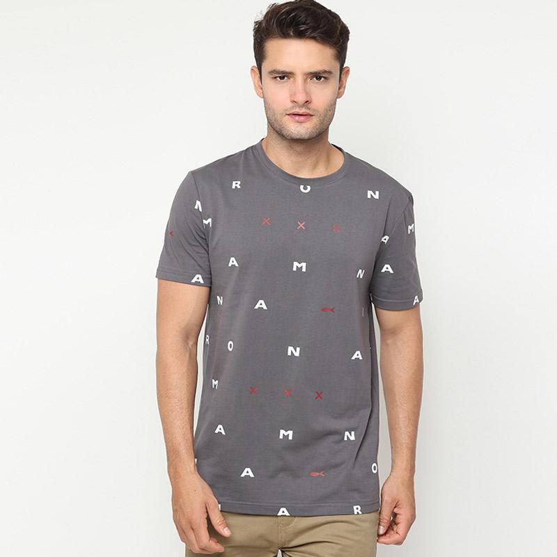 Minarno Alphabet 02 S-S Tee T-Shirt Pria